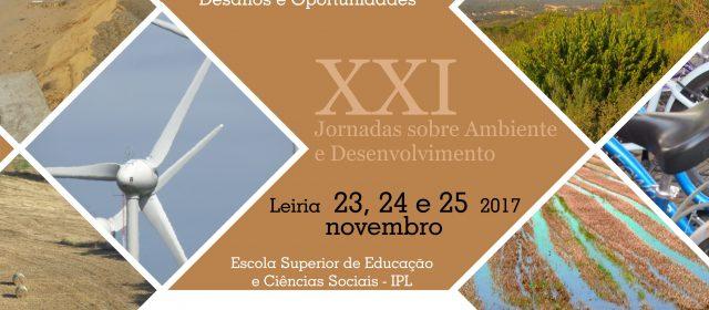 XXI Jornadas sobre Ambiente e Desenvolvimento